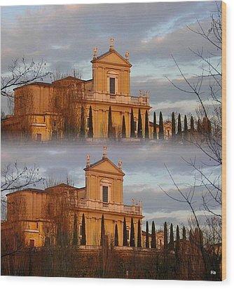 Chiesa Radopiata Wood Print by Halina Nechyporuk