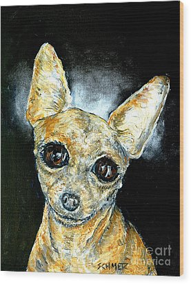 Chihuahua Angel Wood Print by Jay  Schmetz