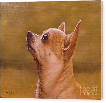 Chihuahua Portrait Wood Print by John Silver