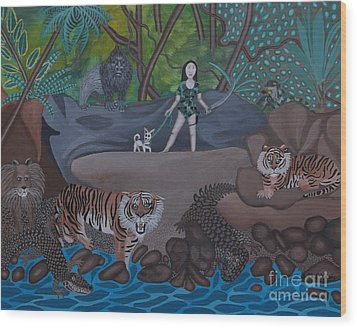 Chihuahua Safari Wood Print by Anthony Morris