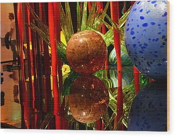 Chihuly-10 Wood Print by Dean Ferreira