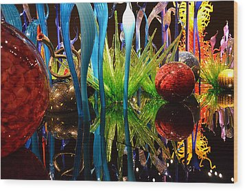 Chihuly-11 Wood Print by Dean Ferreira