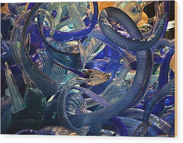 Chihuly-2 Wood Print by Dean Ferreira