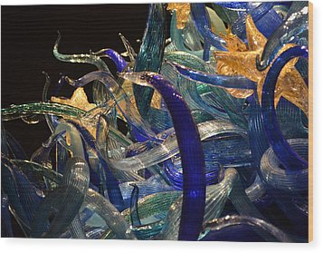 Chihuly-3 Wood Print by Dean Ferreira