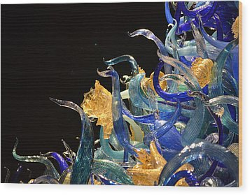Chihuly-4 Wood Print by Dean Ferreira