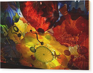 Chihuly-5 Wood Print by Dean Ferreira