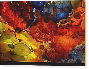Chihuly-6 Wood Print by Dean Ferreira