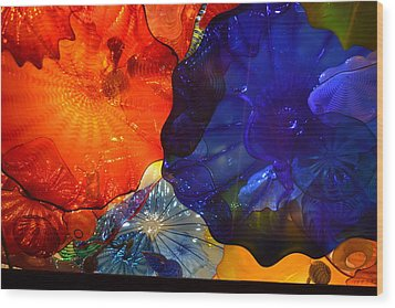 Chihuly-7 Wood Print by Dean Ferreira