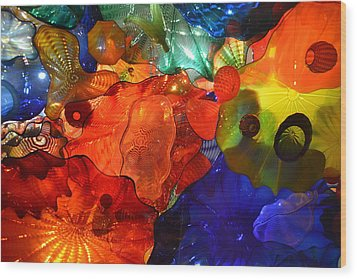 Chihuly-8 Wood Print by Dean Ferreira