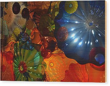 Chihuly-9 Wood Print by Dean Ferreira