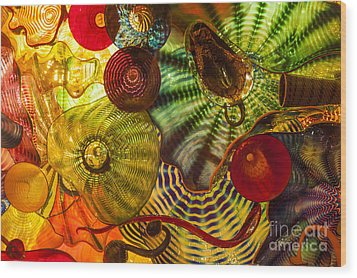 Chihuly Glass 3 Wood Print