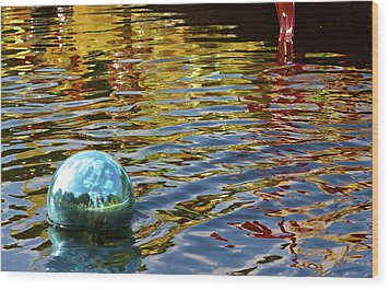 Wood Print featuring the photograph Chihuly Reflection I by John Babis