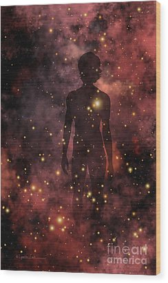 Child Of The Cosmos Wood Print