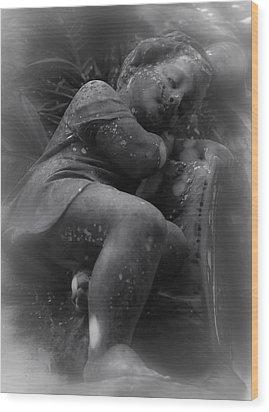 Child Statue Wood Print by Jennifer Burley