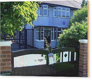Childhood Home Of John Lennon Liverpool Uk Wood Print