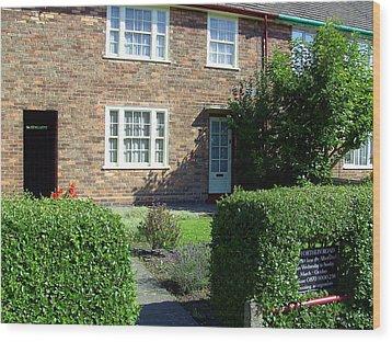 Childhood Home Of Paul Mccartney Liverpool Uk Wood Print