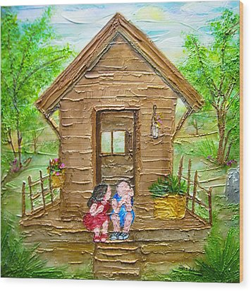Childhood Retreat Wood Print by Jan Wendt
