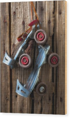 Childhood Skates Wood Print by Garry Gay