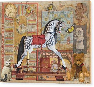 Childhood Treasures Wood Print by Judy Wood