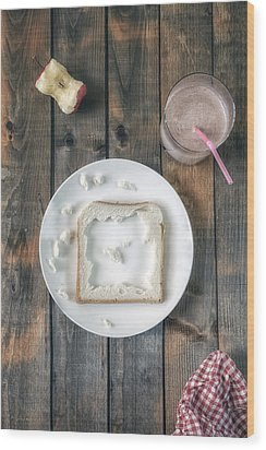 Child's Menu Wood Print by Joana Kruse