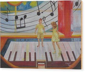 Childs Play Wood Print by Charme Curtin