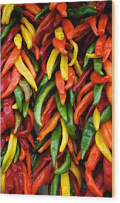 Chile Ristras Wood Print