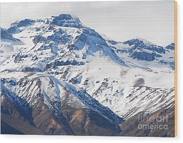 Chilean Andes Wood Print by Susan Hernandez