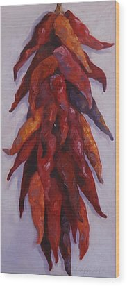 Chili Congregation Wood Print by Kelley Smith