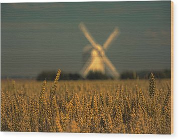 Chillenden Windmill Wood Print