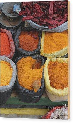 Chilli Powders 3 Wood Print by James Brunker