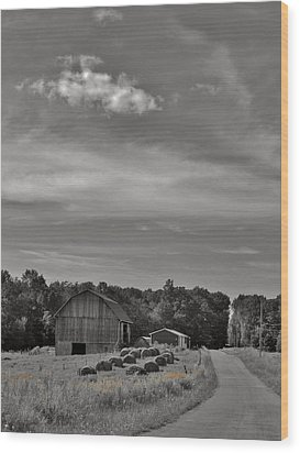Chillin On A Dirt Road Wood Print by Anthony Thomas