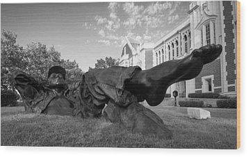 Chillin On The North Oval Wood Print by Nathan Hillis