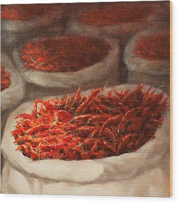 Chillis 2010 Wood Print by Lincoln Seligman