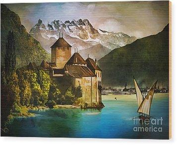Chillon Castle  Wood Print by Andrzej Szczerski