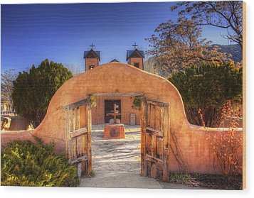 Chimayo Mission Wood Print by Wendell Thompson
