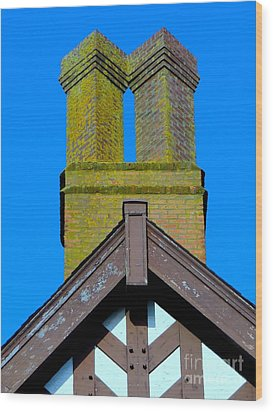 Chimney Abstract Wood Print by Ed Weidman