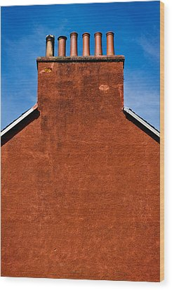 Wood Print featuring the photograph Chimney Pots by Bud Simpson
