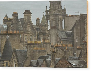 Chimney Pots Of Edinburgh Wood Print
