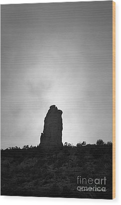 Chimney Rock IIi Wood Print by Dave Gordon
