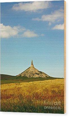 Chimney Rock Nebraska Wood Print