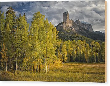 Chimney Rock San Juan Nf Colorado Img 9722 Wood Print