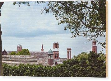 Chimneys Wood Print by John M Bailey