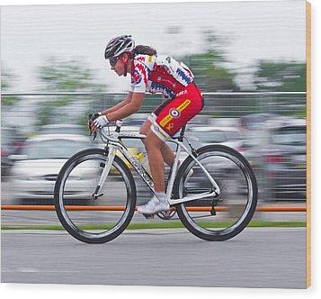 Chin Picnic Bike Race Canada Day 2013 2 Wood Print by Brian Carson