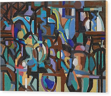 China Cabinet Wood Print by Clyde Semler