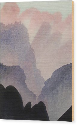 Wood Print featuring the painting China by Ed  Heaton