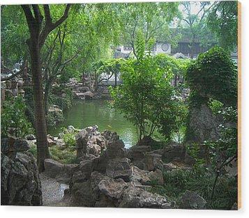 China Garden Wood Print by Will Burlingham