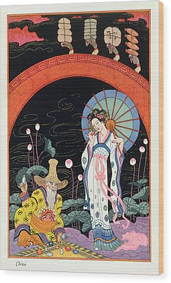China Wood Print by Georges Barbier