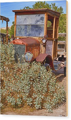 Wood Print featuring the photograph China Ranch Truck by Jerry Fornarotto