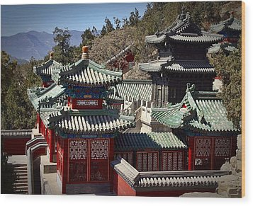 Wood Print featuring the photograph China Summer Palace by Henry Kowalski