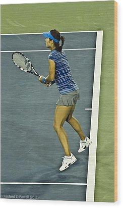 China Tennis Star Li Na Wood Print by Rexford L Powell